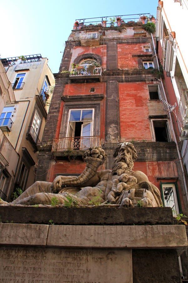 Nilorivier; allegorisch standbeeld stock afbeeldingen