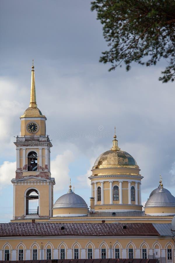 Nilova Pustyn/Ρωσία - 17 Ιουλίου 2012: Έρημος nilo-Stolobenskaya στο νησί Stolobny στοκ φωτογραφία με δικαίωμα ελεύθερης χρήσης