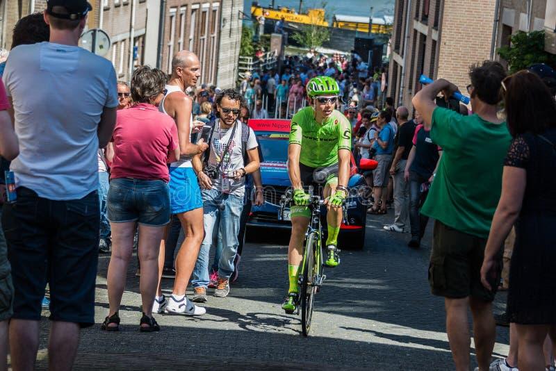 Nimègue, Pays-Bas le 8 mai 2016 ; Cycliste professionnel de Davide Formolo pendant le transfert photos libres de droits