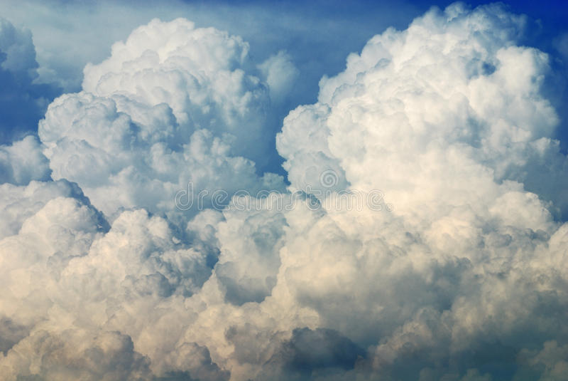 Nimbus in Cloudscape royalty-vrije stock foto's