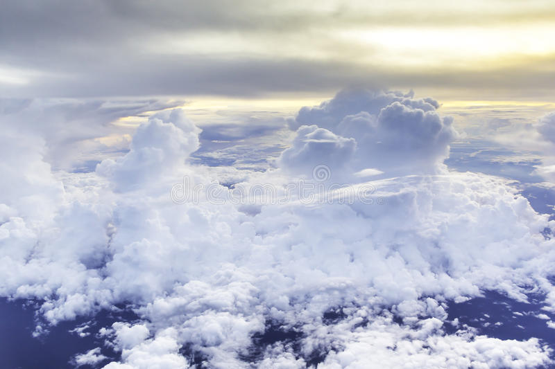 Nimbus in cloudscape. With orange of sunshine royalty free stock photography