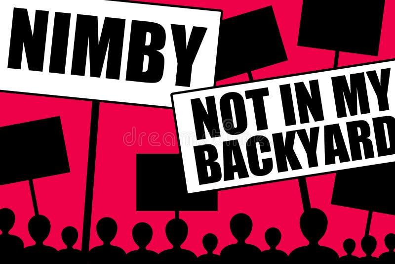 Nimby illustration libre de droits