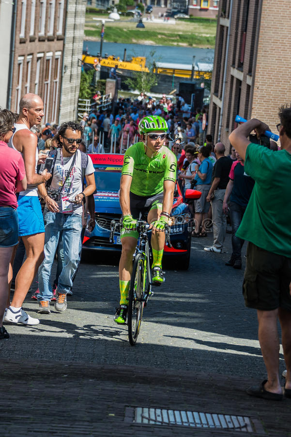 Nimega, 8 de mayo de 2016 holandés; Ciclista profesional de Davide Formolo durante transferencia foto de archivo