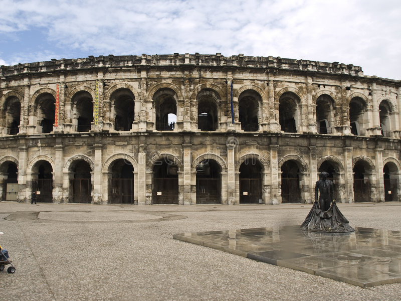 Download Nimes Arena stock photo. Image of europe, colosseo, archeology - 7895214