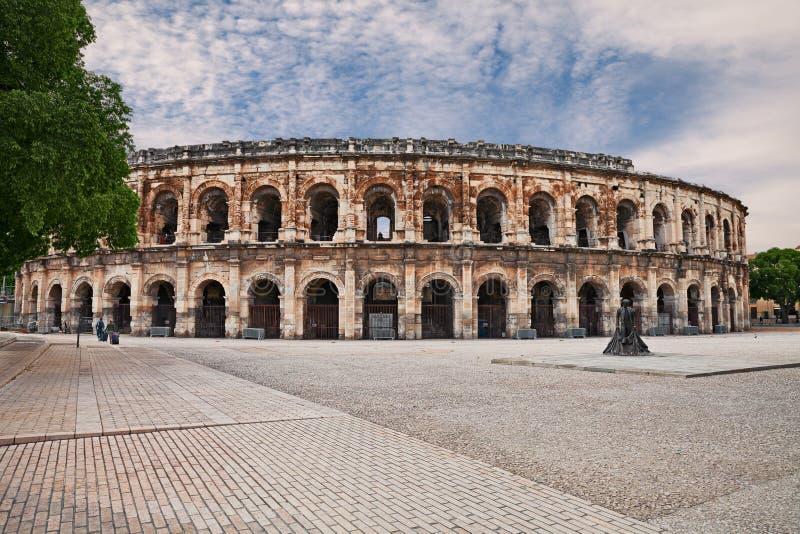 Nimes, França: Roman Arena antigo fotografia de stock royalty free