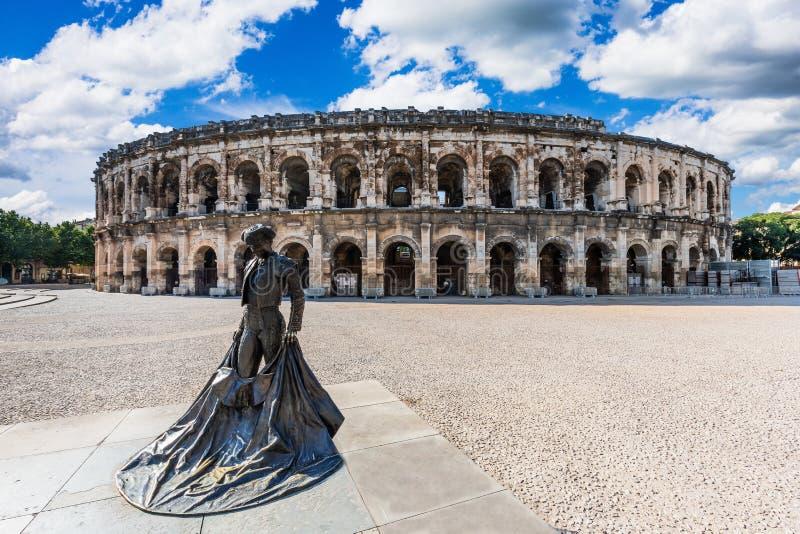 Nimes, Francja obraz royalty free