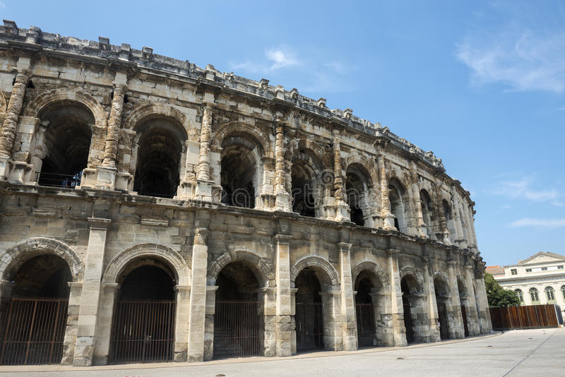 Nimes, Les Arenes obrazy royalty free