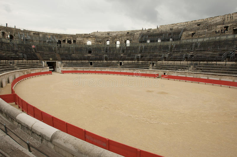 Nimes Roman amphitheatre stock photo