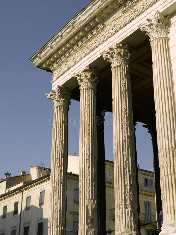 Download Nimes: Roman temple named stock image. Image of europe - 10770561