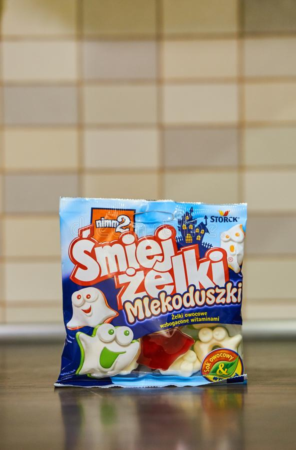 Nimm2 ducha kształtny cukierek fotografia royalty free
