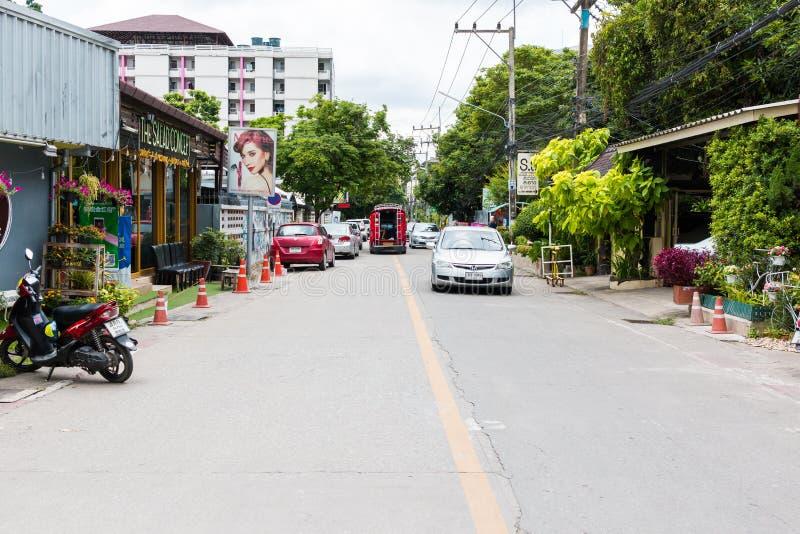 Nimmanhaeminweg op Augus 3, 2016 in Chiang Mai, Thailand royalty-vrije stock fotografie