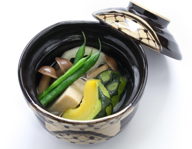 Nimono, αυθεντική ιαπωνική κουζίνα στοκ εικόνες