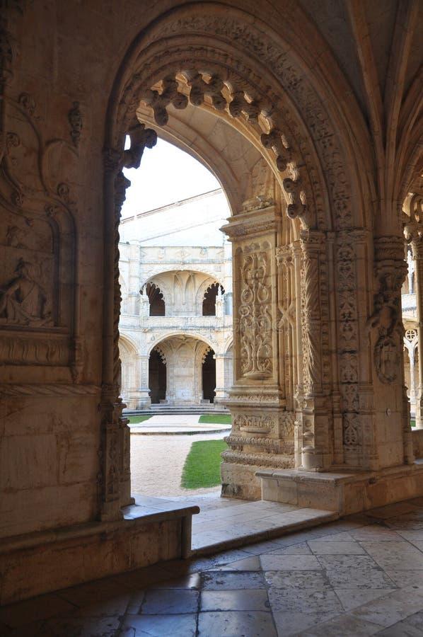 Nimos монастырь ³ JerÃ, Belem, Португалия, зима 2014 стоковая фотография