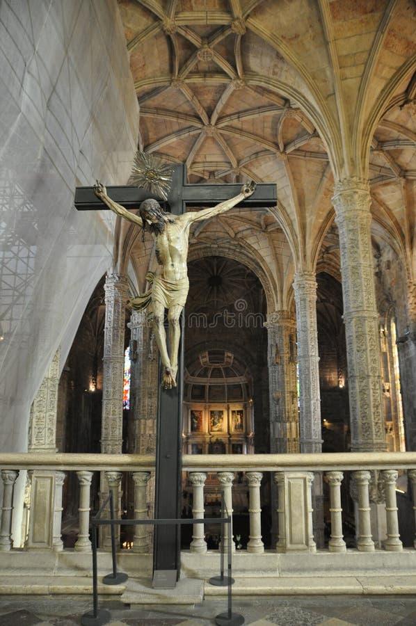Nimos монастырь ³ JerÃ, Belem, Португалия, зима 2014 стоковые изображения