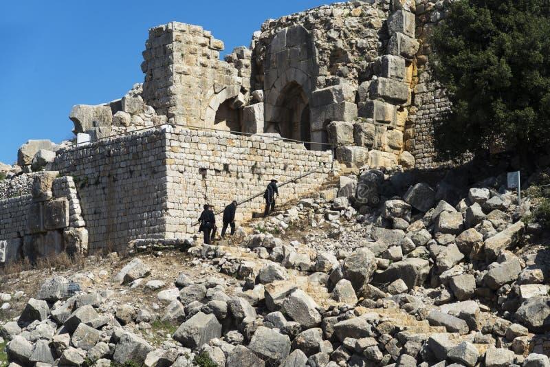 Nimrod Fortress lizenzfreies stockfoto