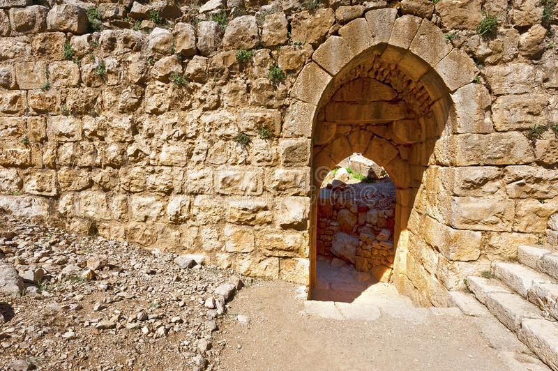 Nimrod Fortress em Israel fotografia de stock royalty free