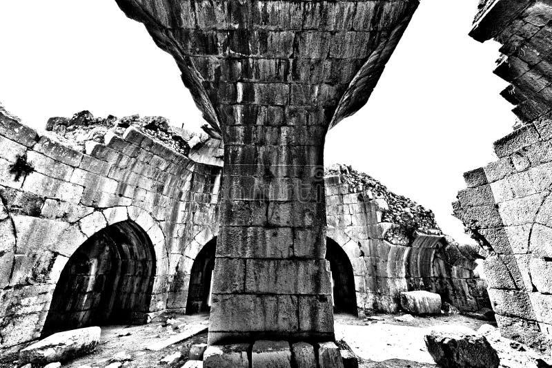 Nimrod Fortress em Israel imagens de stock