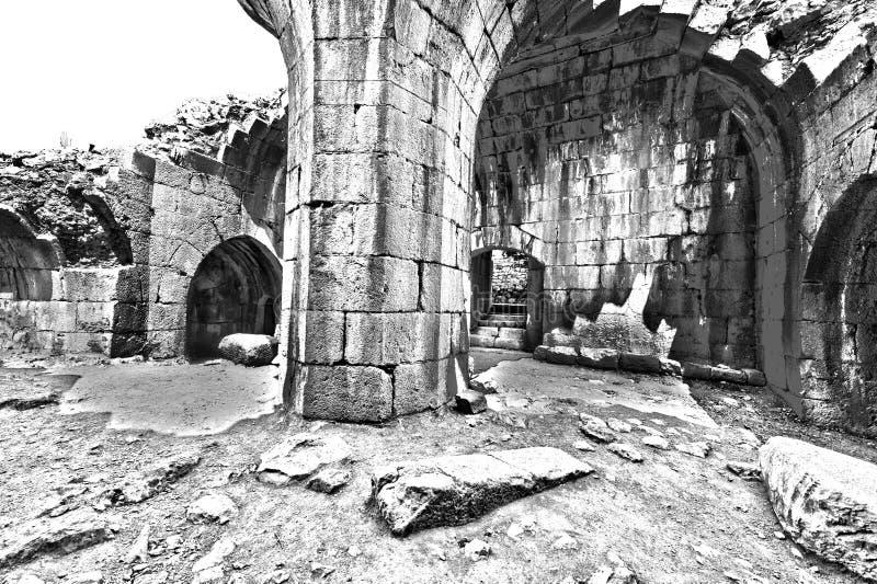 Nimrod Fortress em Israel foto de stock