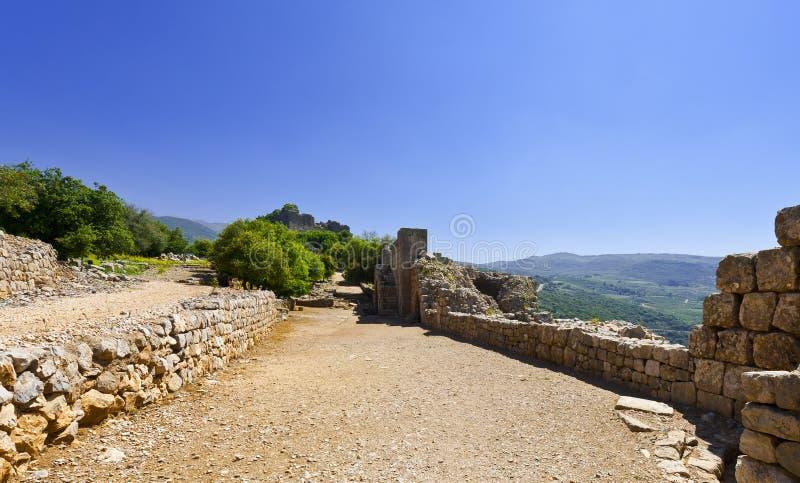 Nimrod Fortress em Israel fotos de stock