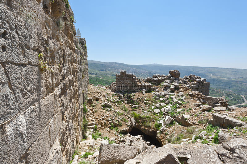 Nimrod Fortress em Israel imagem de stock