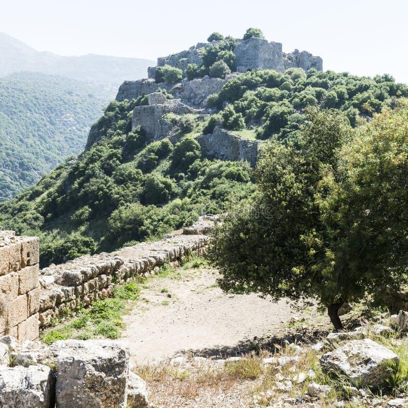 Nimrod Fortress em Israel imagem de stock royalty free