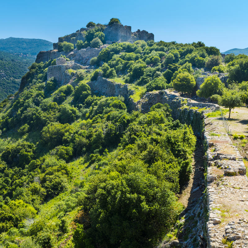 Nimrod Fortress em Israel fotos de stock royalty free