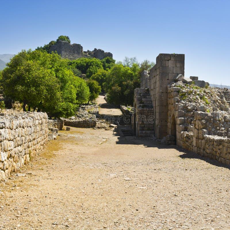 Nimrod Fortress em Israel fotografia de stock