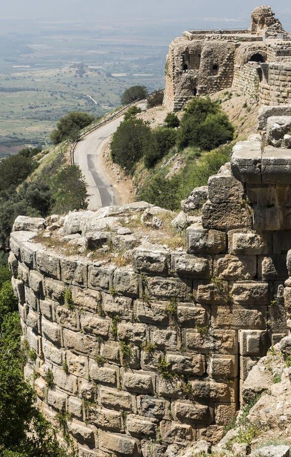 Nimrod Fortress em Israel imagens de stock royalty free