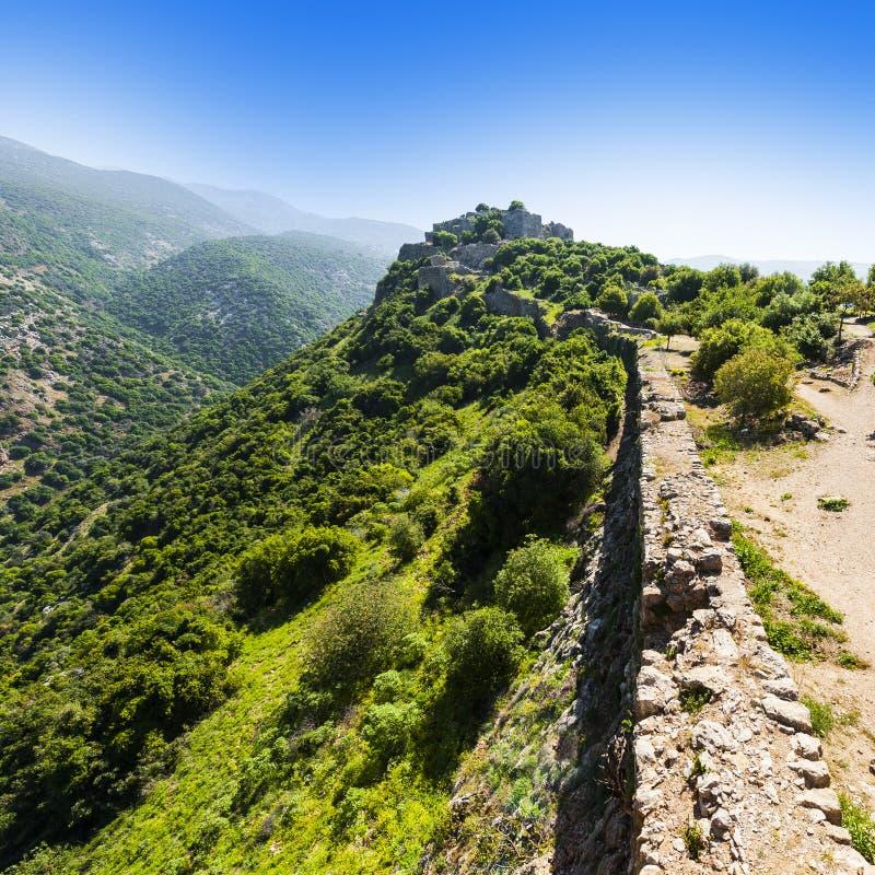 Nimrod Fortress i Israel royaltyfri bild