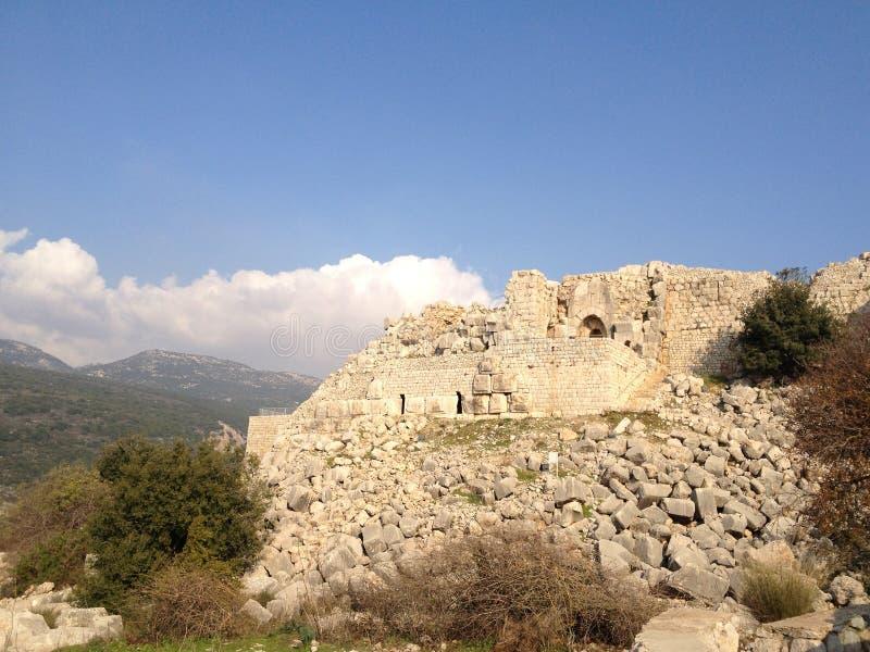 Nimrod Fortress In Nord-Israel stockbilder