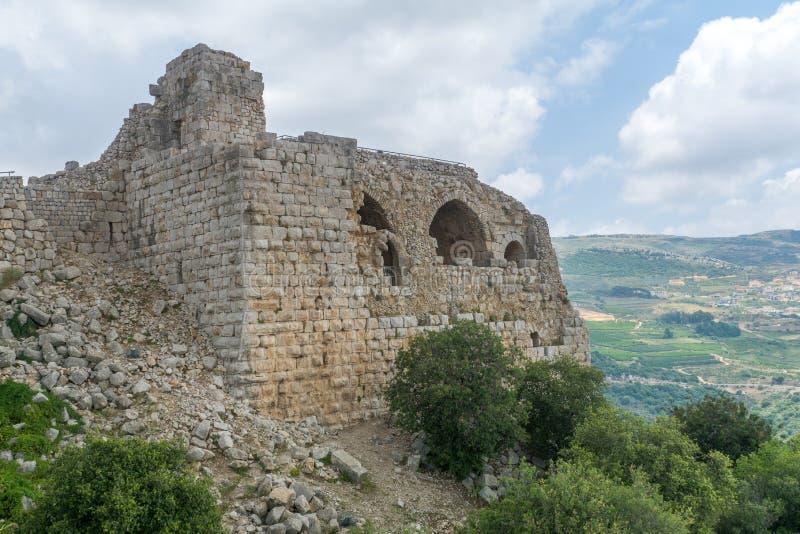 Nimrod Fortress Remains imagem de stock royalty free