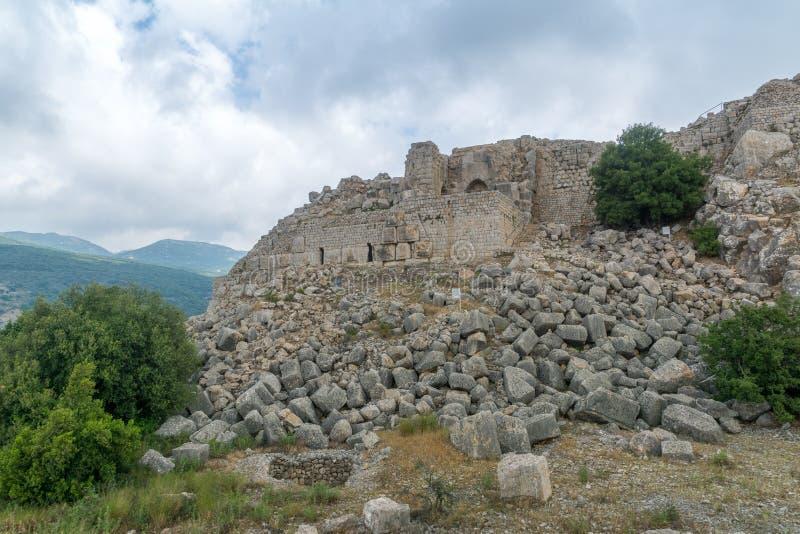 Nimrod Fortress Remains fotografia de stock royalty free