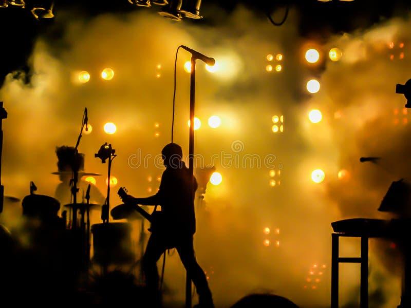 NIN zespołu spełnianie na scenie zdjęcia royalty free
