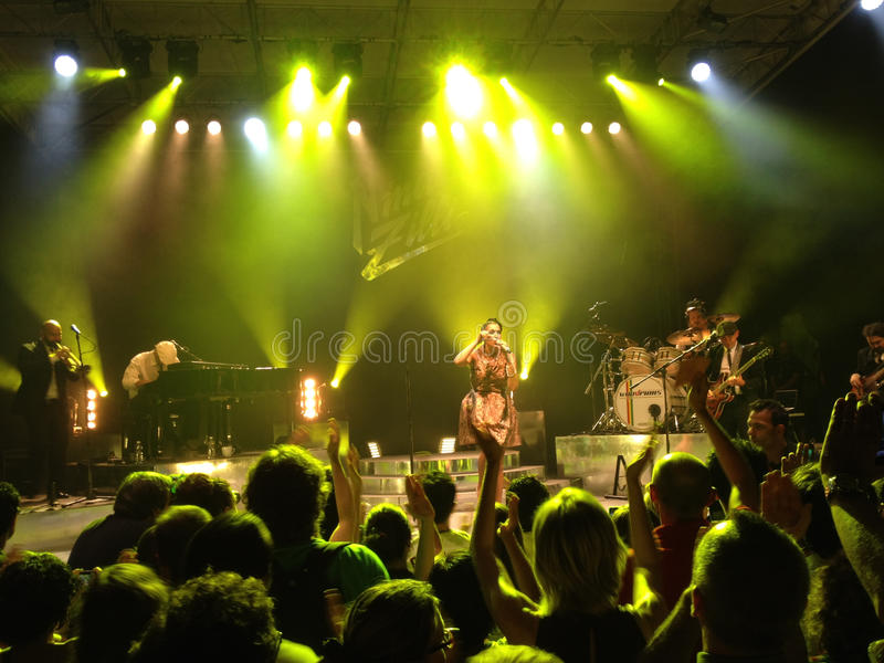 Nina Zilli concert, Bard castle, Italy royalty free stock photos