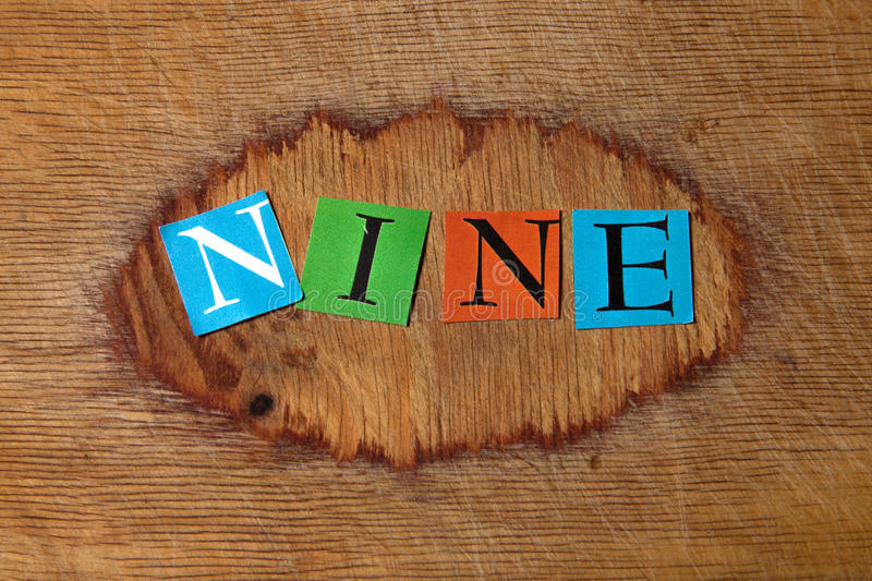 Download Nine stock photo. Image of wood, sign, background, term - 28501368