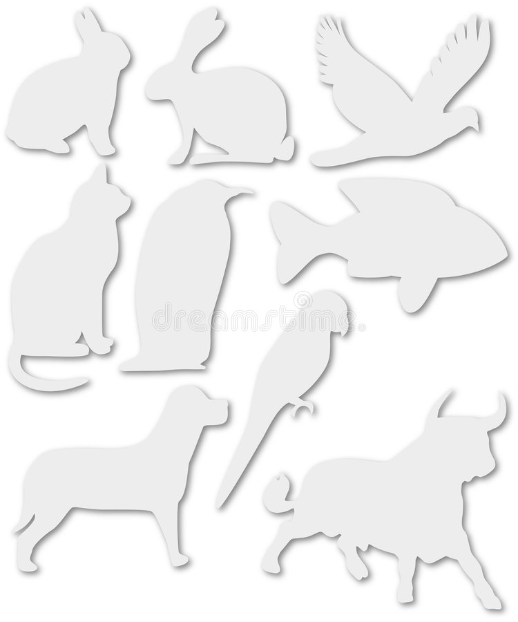 Nine animals royalty free stock photography