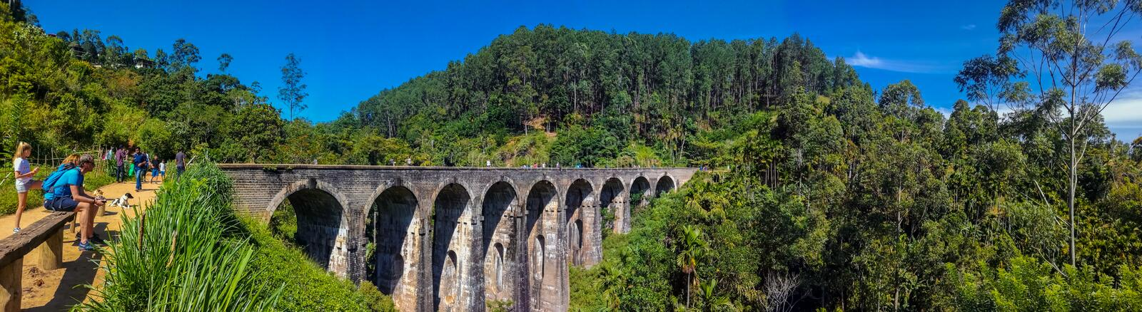Nine Arch Bridge Sri lanka. This is image of Nine arch Bridge in Demodara, Sri lanka. Many Tourists are visit  there beauty royalty free stock image