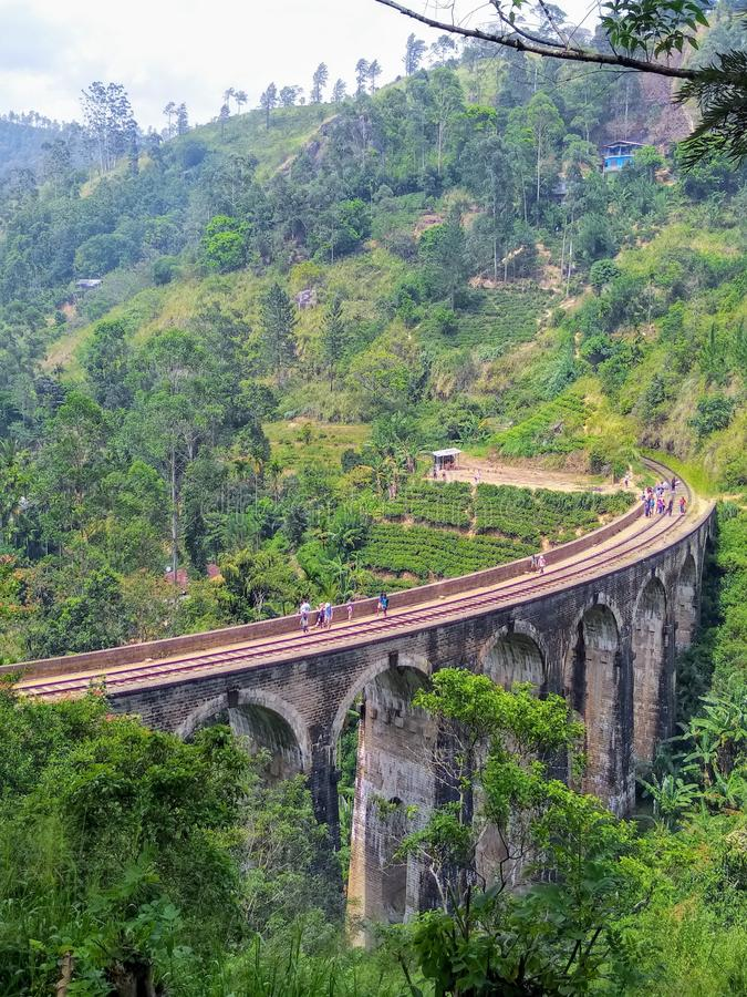 Nine Arch. One of the most attractive places in Sri Lanka stock photos