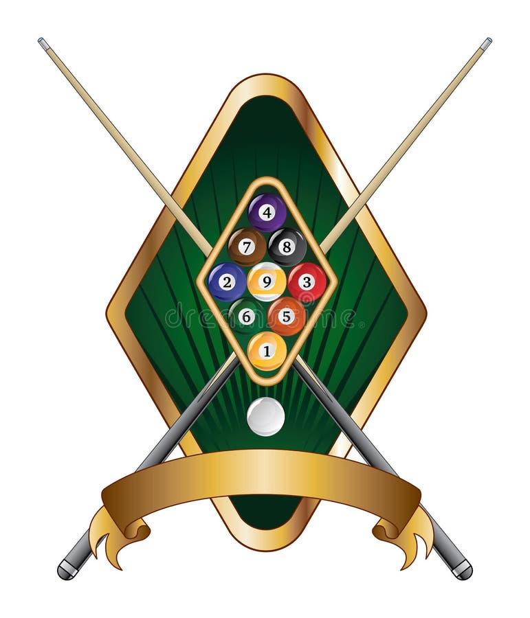 Free Nine Ball Emblem Design Banner Royalty Free Stock Photos - 26405908