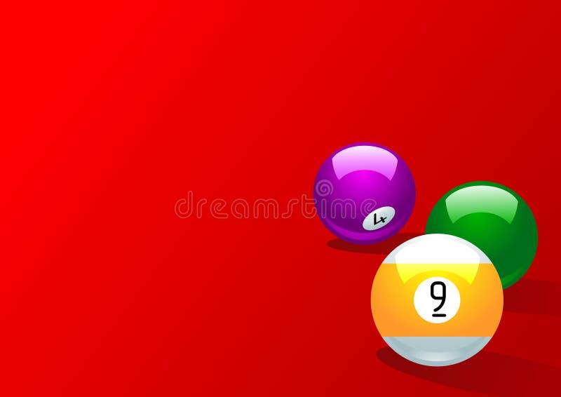 Nine Balls Royalty Free Stock Photo
