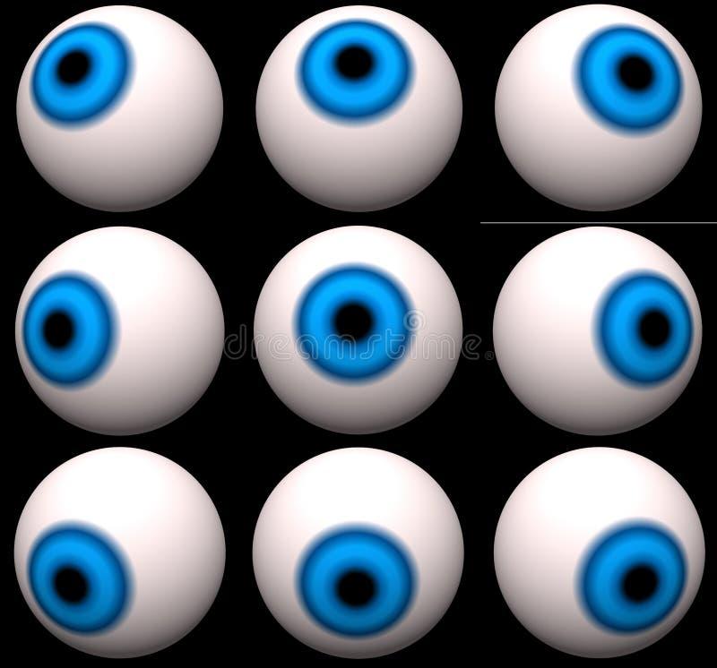 Download Nine Blue Eyes stock illustration. Illustration of digital - 397610