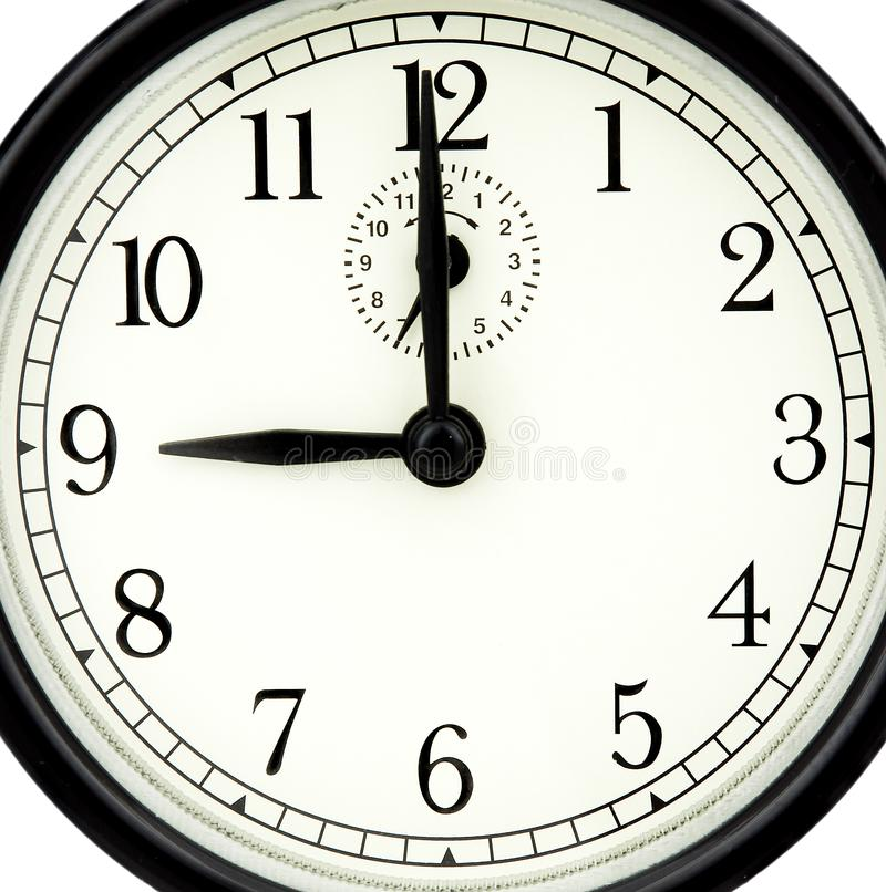 Nine of clock royalty free stock photography