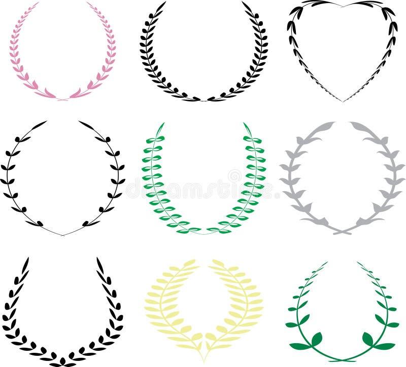 Nine crest vector illustration