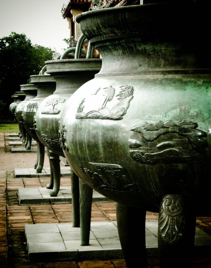 Nine Dynastic Urns, Hue, Vietnam royalty free stock images