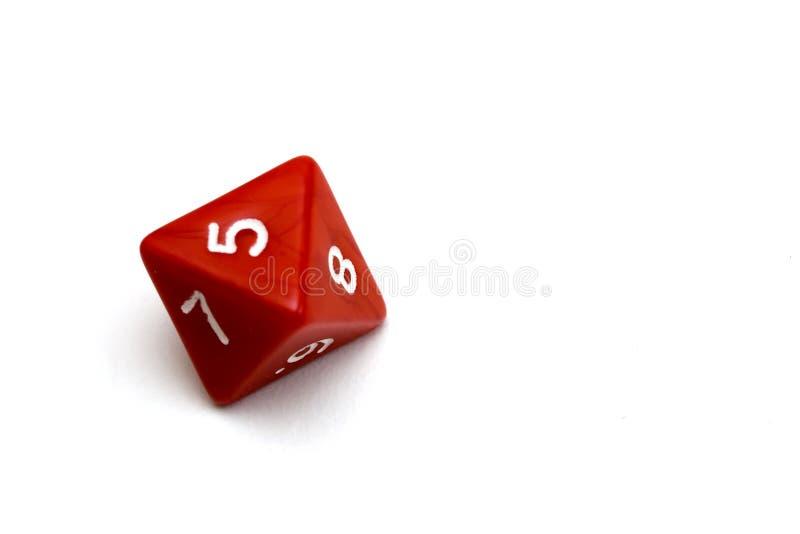 Nine faces dice stock image