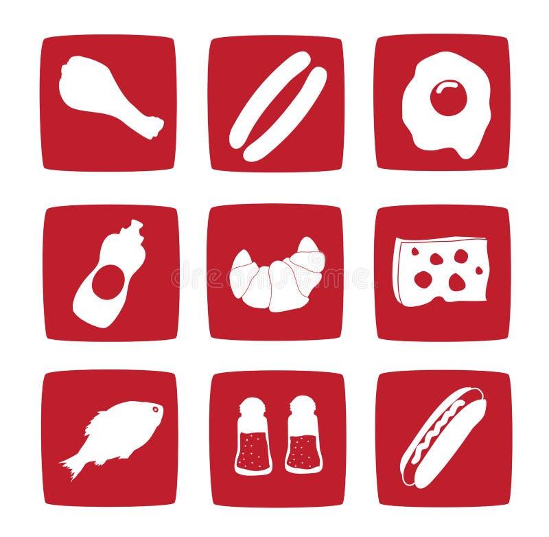 Nine food icons