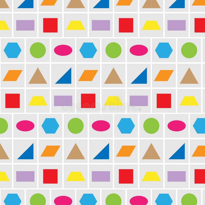 Pattern geometry shape colorful vector background stock illustration
