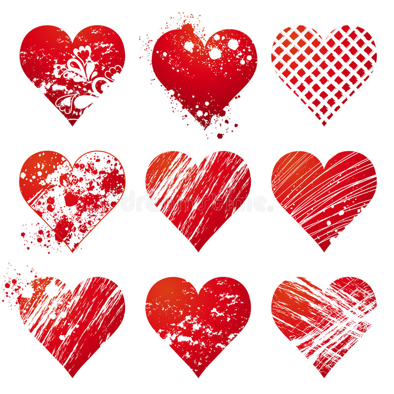 Nine Heart, Vector Royalty Free Stock Images