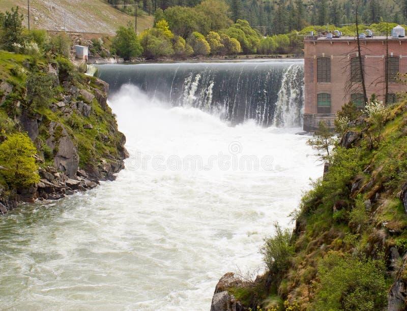 Nine Mile Falls Dam. Photo of Nine Mile Falls Dam in Eastern Washington State royalty free stock images
