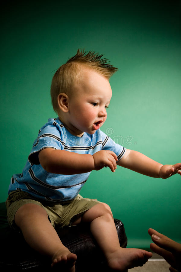 Download Nine Month Old Boy stock photo. Image of close, cheerful - 10020444